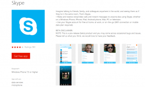 Skype for windows phone 7 is on marketplace